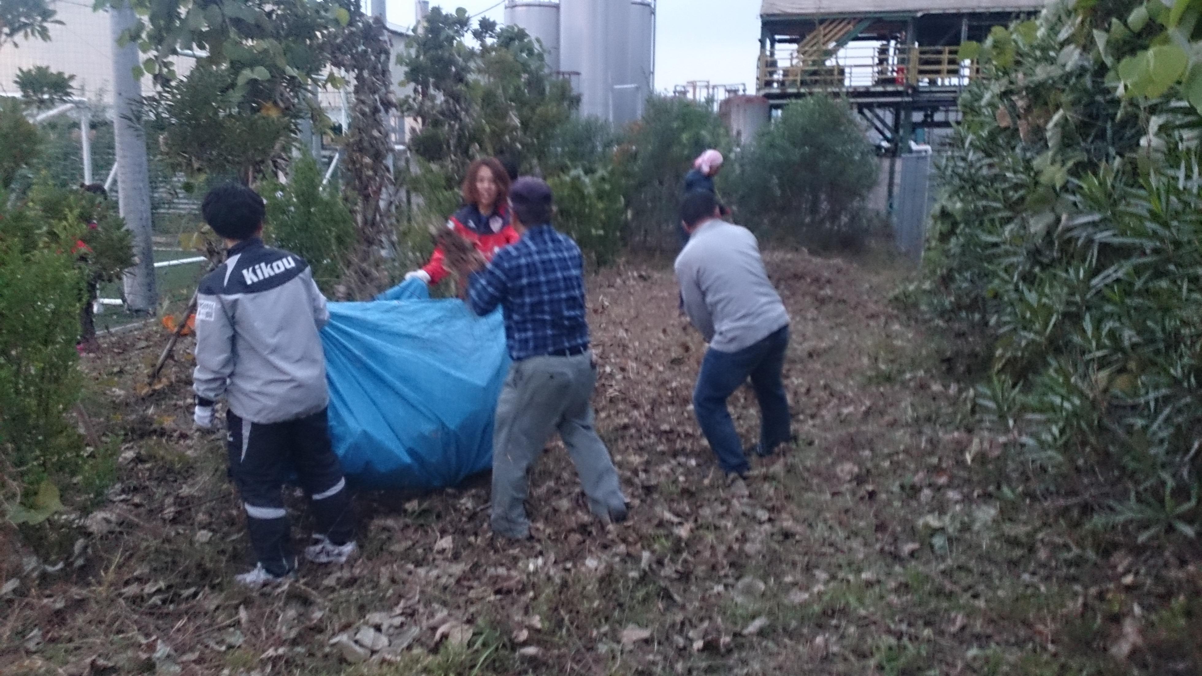 選手・スタッフ・サポーター・石井造園集積状況